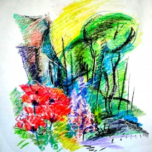 landscape-with-flower